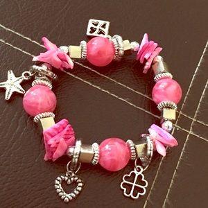 """Girls Love Pink"" 💥NWT💥 Charm Bracelet"